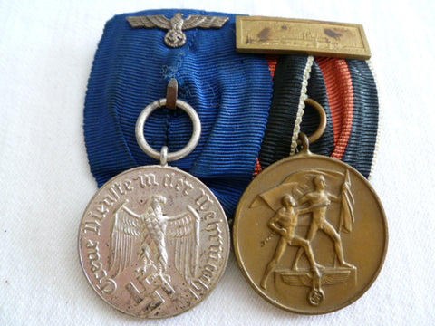 GERMAN PR MEDALS ARMY LONG SERVICE AND ANEX MEDAL W /PRAGUE BA