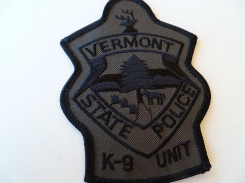 vermont state police K9 unit