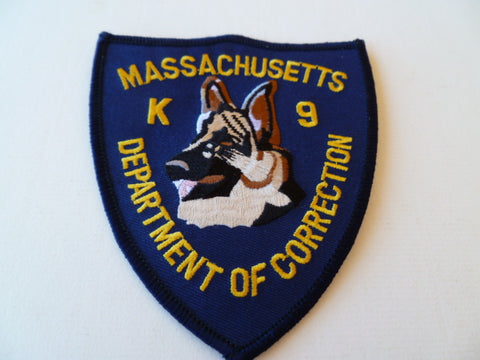 massachusetts K9 dept of corrections