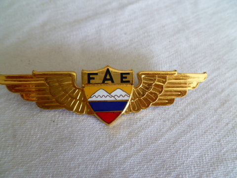 EQUADOR airforce wing pilot us meyer made