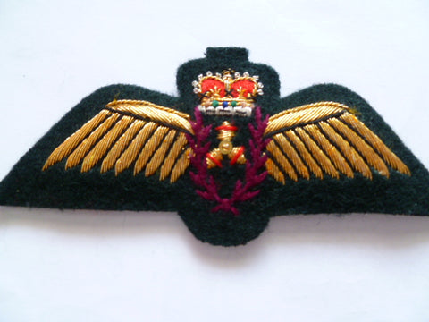CANADA  gold thread emb airforce wing nav