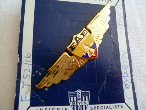 SOUTH AMERICA wings airforce gold meyer made on card