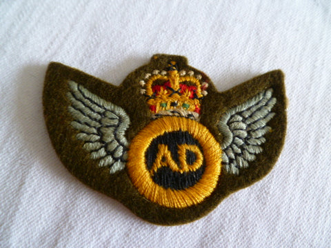 NEW ZEALAND genuine AIR DISPATCH wings thick emb