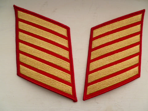 USA USMC service chevrons pair