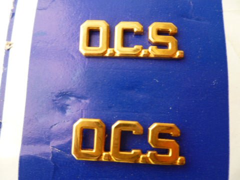 USA army ocs  branch of service pair gold metal