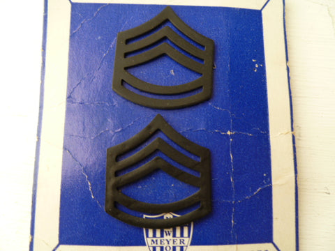 USA armed forces LGE style sgt rank black pair