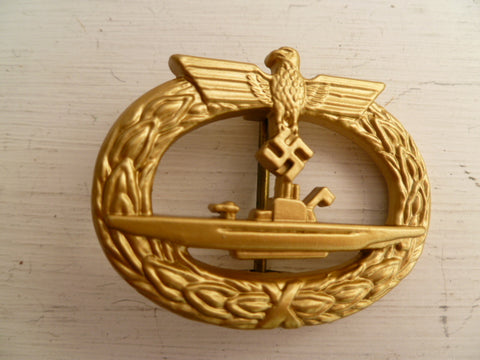 GERMAN WWII REPRO badge K/M submarine badge