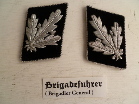 GERMAN WWII REPRO SS officers  rank tabs brigade fuhrer