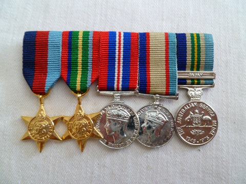 AUSTRALIA mini group of 5 ww2 and asm japan