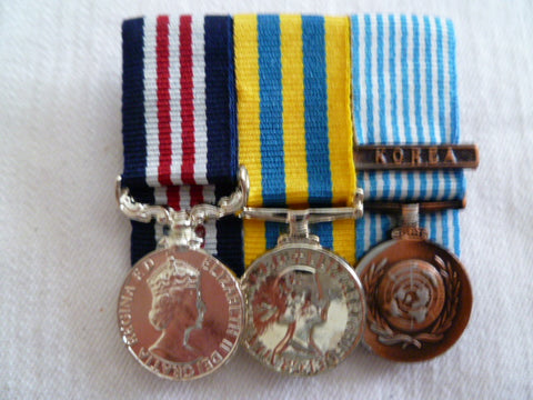 BRITAIN group of 3 medals mini un-named MM korea