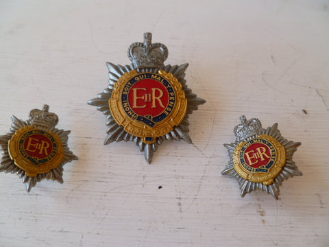 NEW ZEALAND rnz transport corps cap badge and collar s metal lug