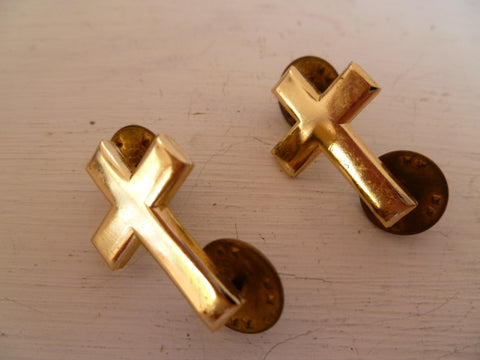AUSTRALIA 1960s on c/b type chaplain collars pair