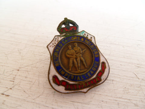 AUSTRALIA  2 soldier small type rsl badge m/m and #