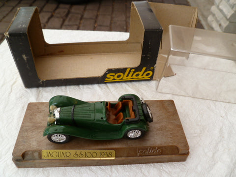 SOLIDO aged'or  boxed 4002  jaguar ss 100 1938