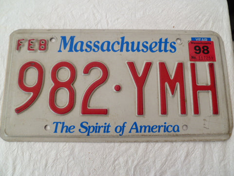 usa car  number plate massachusetts