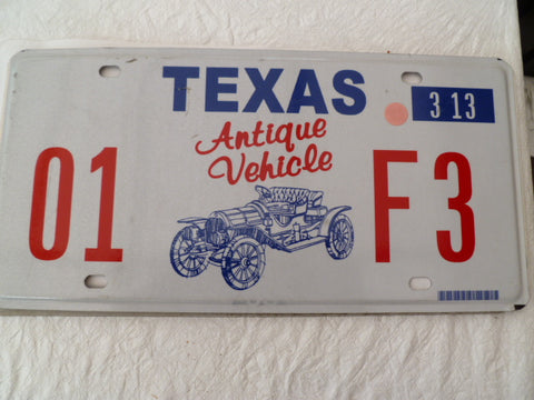 usa car  number plate texas