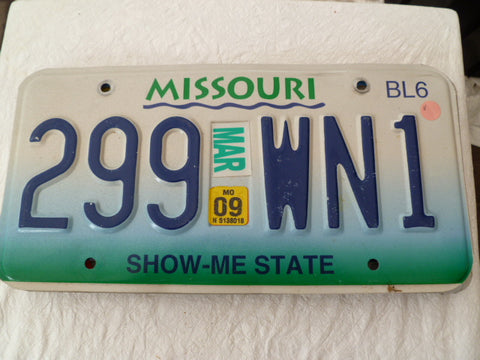 usa car  number plate missouri