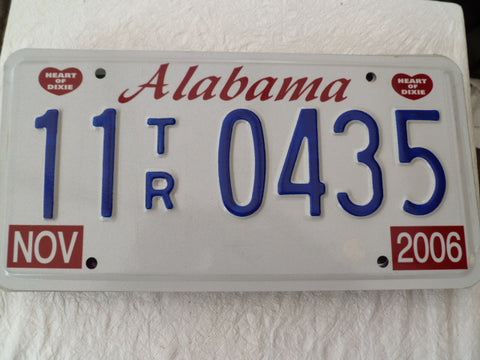 usa car  number plate alabama
