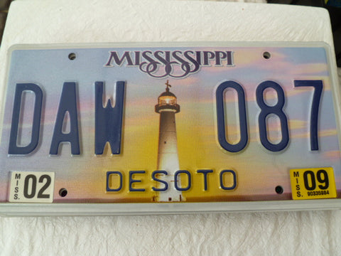 usa car  number plate missisippi
