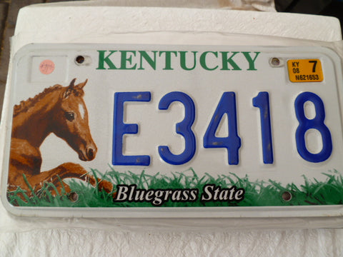 usa car  number plate kentucky horses
