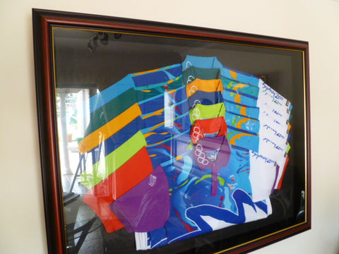 framed 2000 olympics all shirts of all officials looks magnifice