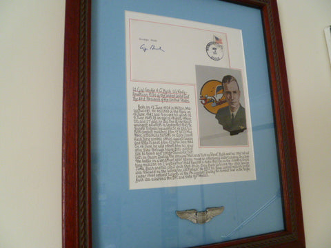 framed and signed by PRESIDENT BUSH SENIOR