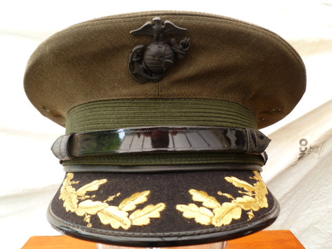 USA USMC OFFICERS PEAKED CAP FOR MAJ.