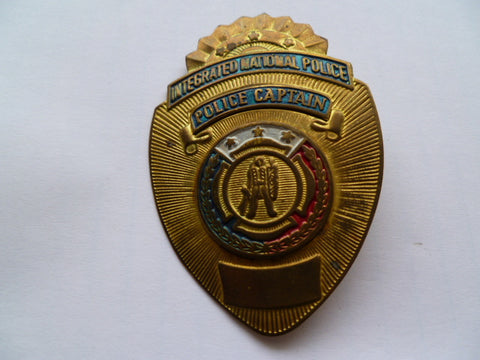 PHILLIPINES police capt breast badgeun numbered