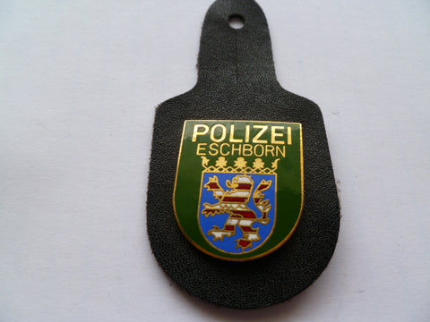 GERMANY eschborn police breast badge on hanger