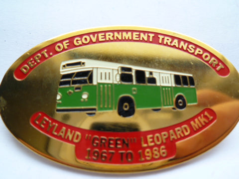 AUSTRALIA govt transport bus badge # 087 leyland