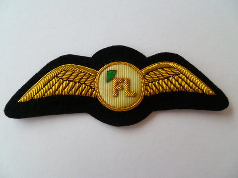AIRLINE WING bullion F.L on white circle