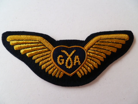 AIRLINE WING bullion G.A on black circle