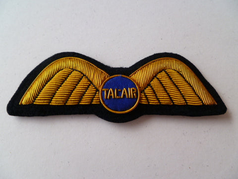 AIRLINE WING bullion TALAIR on blue circle
