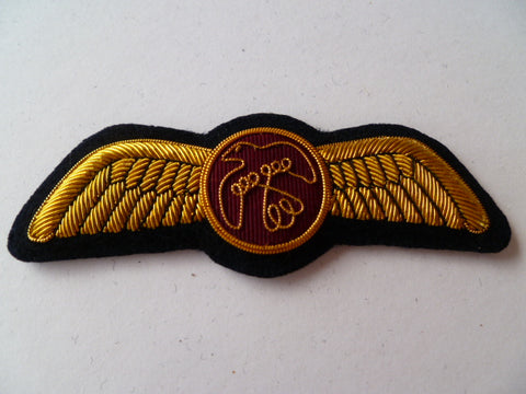 AIRLINE WING bullion Golld bird on red circle