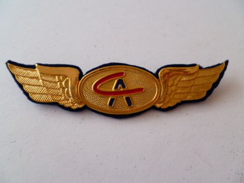 AIRLINE WING  CA  metal broach back