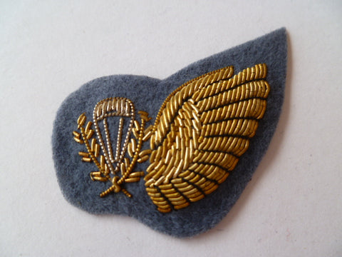 ANZAC para chute instructor 1/2 wing in gold bullion