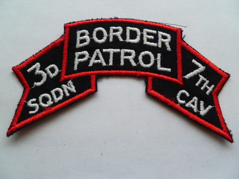 US ARMY ranger 3rd sqd 7th cav border patrol