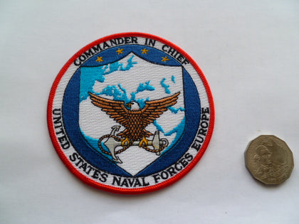 US NAVAL FORCES EUROPE COM IN CHIEF patch rare