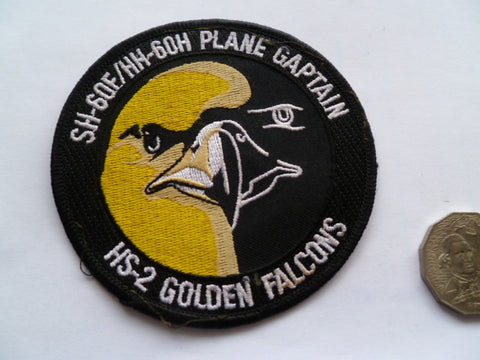 USAF HS 2  golden knights plane capt patch local made