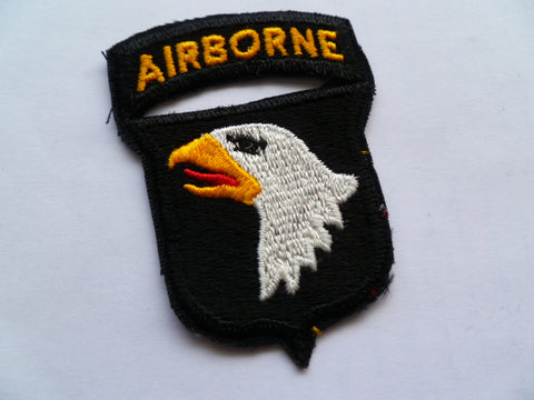 US ARMY 101st airborne patch with joined tab