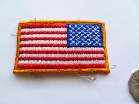 USA FLAG as used on military uniform lightly used