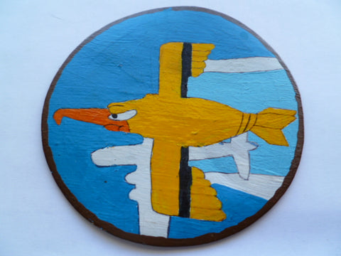 USAF leather  patch of memphis belle handmade modern
