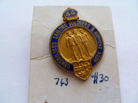 AUSTRALIA demobilised soldiers,sailors&airmen assn badge1944