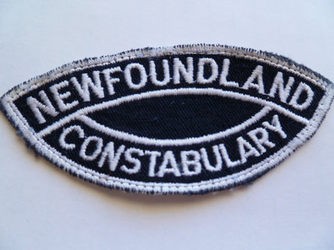 NEWFOUNDLAND constabulary shoulder patch