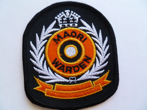 NEW ZEALAND maori warden patch