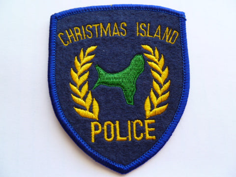 CHRISTMAS ISLAND police patch