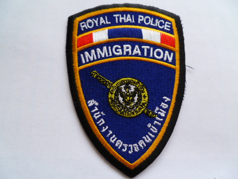 THAILAND royal thai police immigration patch