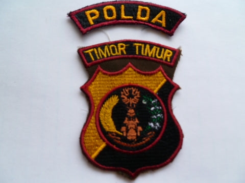 TIMOR old east timor 2 piece set of patches