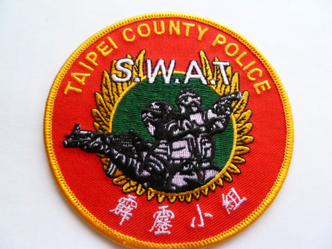 TAIPEI county police swat patch