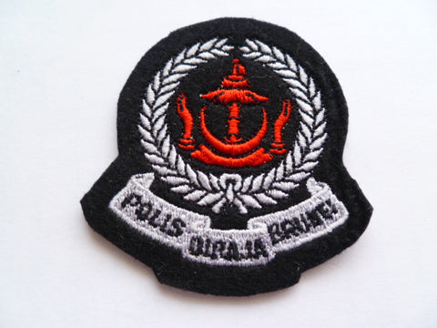 BRUNEI police beret patch small 2 1/2 inches